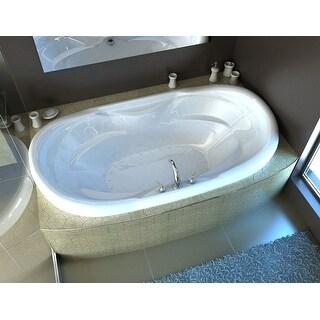 "Avano AV4170IAL St.Lucia 70"" Acrylic Air Bathtub for Drop-In Installations with Center Drain - White"