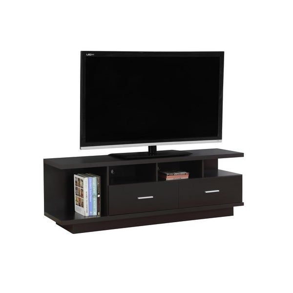 Monarch Specialties I 2674 60 Inch X 15 Wood Tv Stand Cuccino N