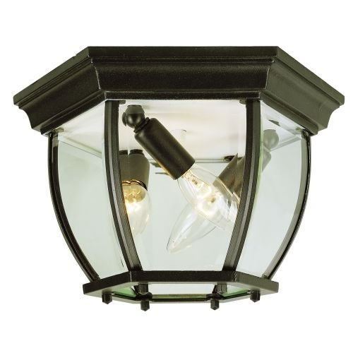 Trans Globe Lighting 4906 Three Light Down Outdoor Flush Mount Ceiling Fixture From The