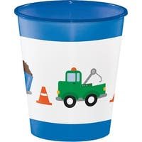 Club Pack of 12 Blue and White Traffic Jam Themed Disposable Cups 12 oz