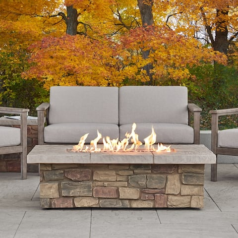 Sedona Rectangle LP Gas Fire Table w/Natural Gas Conversion Kit