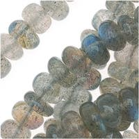 Labradorite Gem Beads Rondelles 5mm 14-Inch Strand