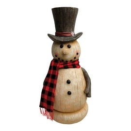 Design House 316505 Christmas Rustic Snowman, White