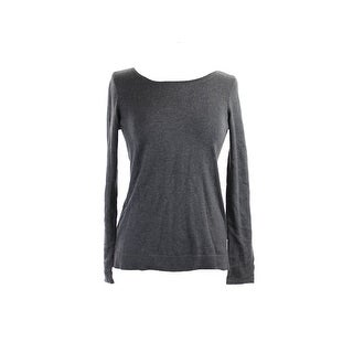 Style & Co. Light Grey Sequined Sweatshirt L