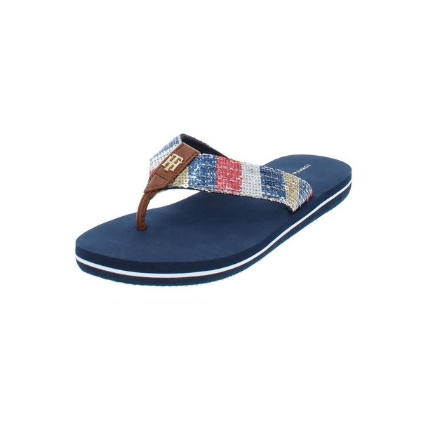 e41634a54c79 Shop Tommy Hilfiger Womens Contina Flip-Flops Thong Sequined - Free ...