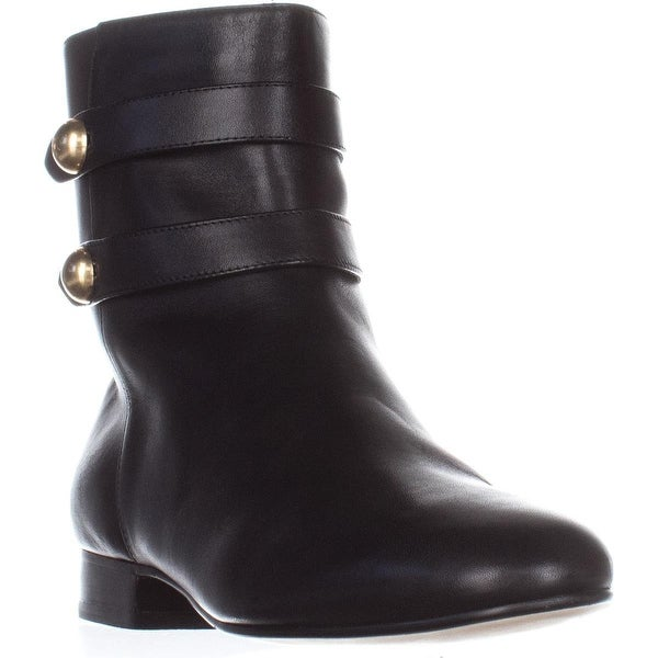 MICHAEL Michael Kors Maisie Flat Ankle Booties, Black Leather