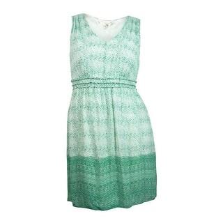 Studio M Women's Printed Sleeveless V-neck Dress - l
