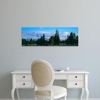 Easy Art Prints Panoramic Image 'View of Teton Range, Grand Teton National Park, Teton County, Wyoming' Canvas Art