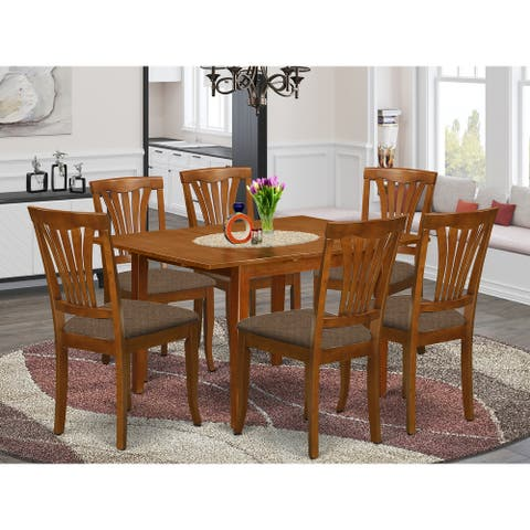 7-PC Dinette Set - Kitchen Table and 6 Kitchen (Chairs Chair Option)