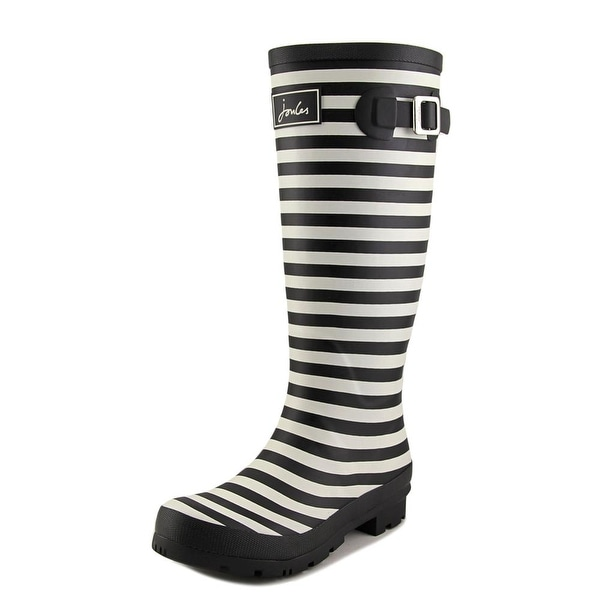 Joules Wellyprint Women Round Toe Synthetic Black Rain Boot