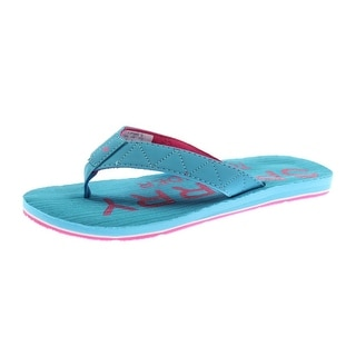 Sperry Girls Topsail 3 Embroidered Slide Flip-Flops - 6 medium (b,m)