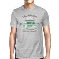 California Beaches Endless Summer Mens Grey Vintage Design T-Shirt