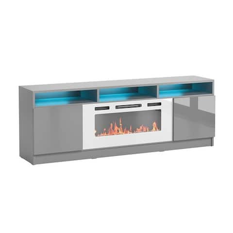 """Reno WH05 Electric Fireplace Modern 63"""" TV Stand"""