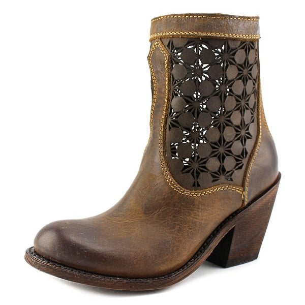 Independent Boot Company Queens Lace Cut-Out Light Oak Boots