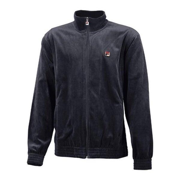 Fila Men's Solid Velour Jacket Ebony