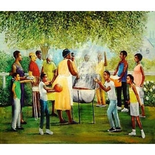 ''Family Reunion'' by Lavarne Ross African American Art Print (25 x 30.5 in.)