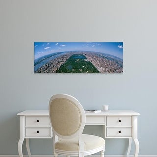 Easy Art Prints Panoramic Images's 'Aerial Central Park Manhattan New York City New York USA' Premium Canvas Art