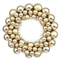 Vickerman N114208 12 in. Gold Colored Ball Wreath