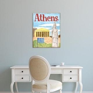 Easy Art Prints Megan Meagher's 'Athens' Premium Canvas Art