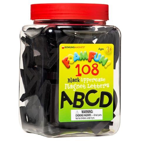 Foam Fun Uppercase Black Magnet