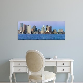 Easy Art Prints Panoramic Images's 'Boston Harbor, Boston skyline at sunrise, Massachusetts, New England' Canvas Art
