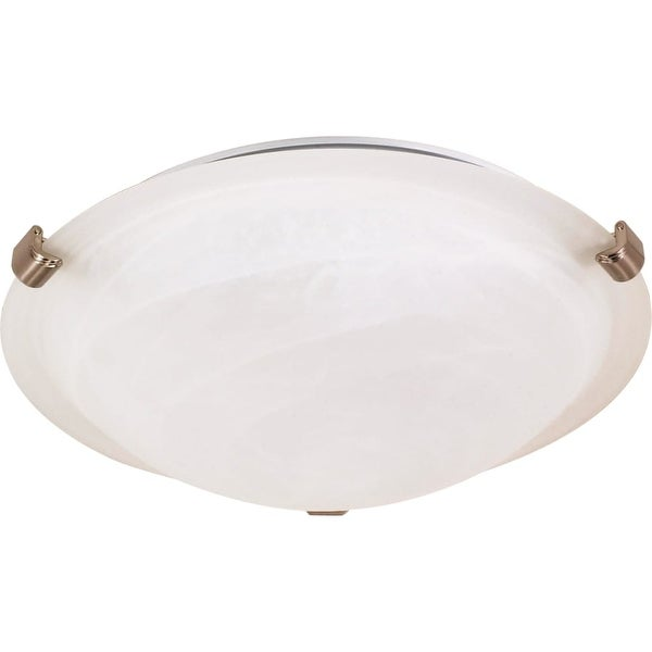 """Nuvo Lighting 60/271 2-Light 16-1/8"""" Wide Flush Mount Bowl Ceiling Fixture - Brushed nickel - n/a"""