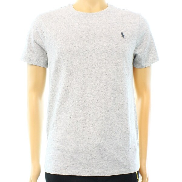 e6fb1d3d2 Shop Polo Ralph Lauren NEW Gray Heather Mens Size Medium M Custom T-Shirt - Free  Shipping On Orders Over  45 - Overstock - 17873654