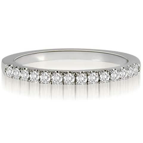 0.25 CT Petite Round Cut Prong-Set Diamond Wedding Ring in 14KT Gold