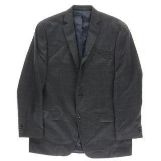 MICHAEL Michael Kors Mens Plaid Lined Two-Button Blazer