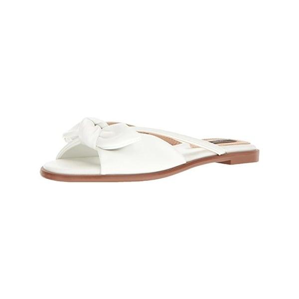 Kensie Womens Major Slide Sandals Open Toe Faux Leather