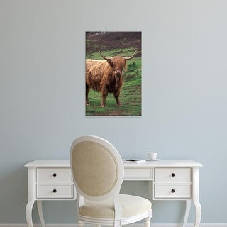 Easy Art Prints Gavriel Jecan's 'Scottish Highland Cattle' Premium Canvas Art