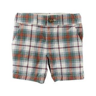 Carter's Baby Boys' Plaid Flat-Front Shorts, 9 Months - Multi