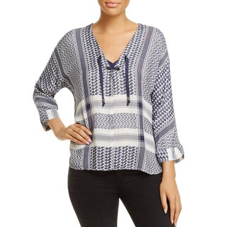 Rails Womens Lily Casual Top Jacquard Hi-Low - s