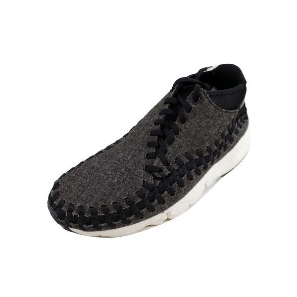 0636777c5927 Shop Nike Men s Air Footscape Woven Chukka SE Black Black-Ivory ...