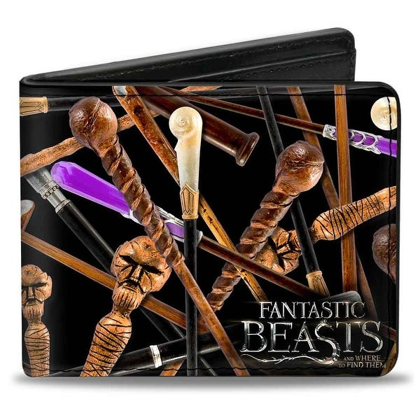 Fantastic Beasts and Where to Find Them Wands Scattered Bi Fold Wallet - One Size Fits most