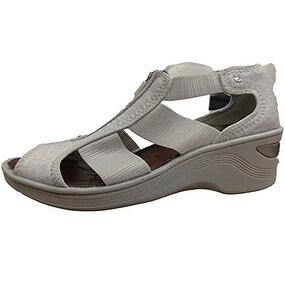 Bzees Women's Duet Sandal - light grey geo