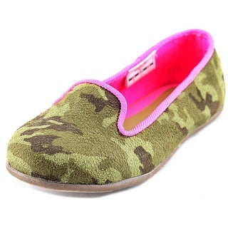 Osh Kosh Eva2-14 Toddler Round Toe Canvas Green Flats