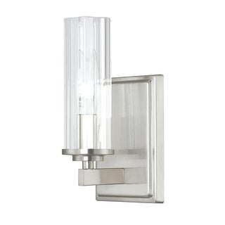 """Donny Osmond Home 8041-150 1-Light 9"""" Tall ADA Compliant Bathroom Sconce from the Emery Collection - Brushed nickel"""