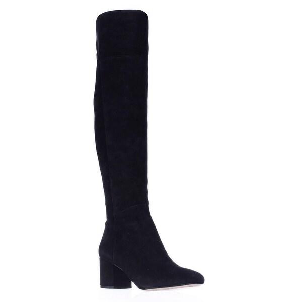Franco Sarto Kerri Tall Block Heel Boots, Black