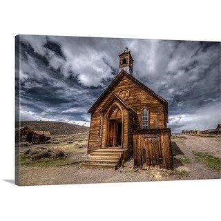Premium Thick-Wrap Canvas entitled Church in Bodie, California