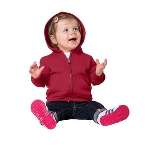 CAR78IZH Infant Full Zip Hooded Sweatshirt, Red - 12 Month