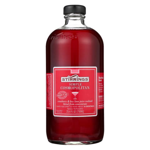 Stirrings Cocktail Mixer - Cosmopolitan - Case of 6 - 750 ml