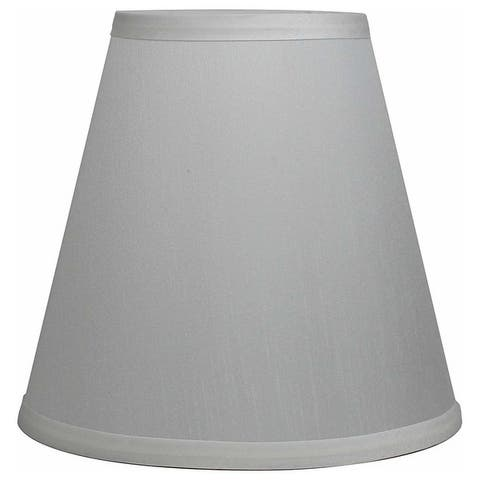 Off White Mushroom Pleated Lamp Shade, 5 inch Top, 9 inch Bottom, 8.5 inch Slant
