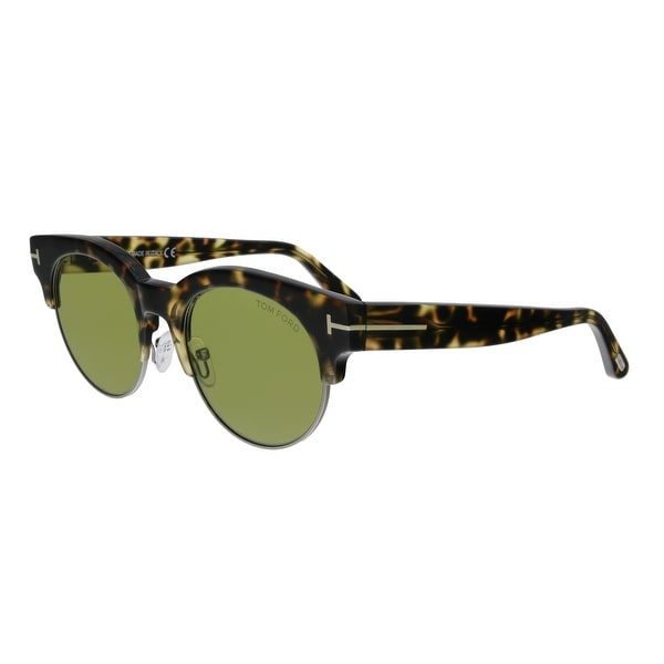410b7d2cb2a Shop Tom Ford FT0598 55N Henri-02 Tortoise Retro Sunglasses - No ...