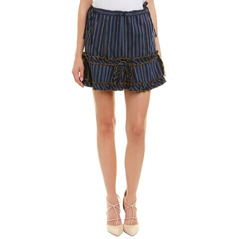 Anna Sui Wanderlust Linen-Blend Mini Skirt