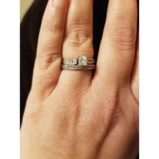 Sterling Silver 1/4ct TDW Diamond Wedding Band - White H-I