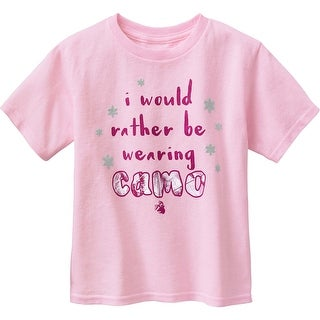 Legendary Whitetails Toddler Spunky Hunter I Would Rather Be Wearing Camo T-Shirt - Rose Quartz