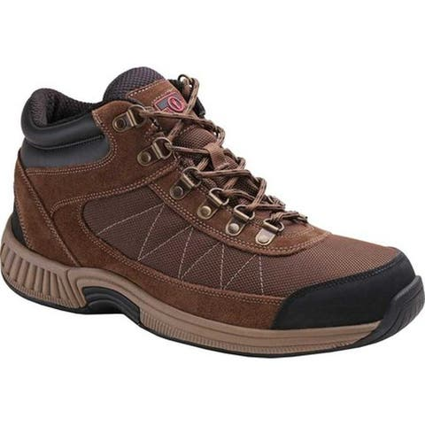 Orthofeet Men's Hunter Ankle Boot Brown Full Grain Leather/Synthetic
