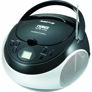 Naxa NAXNPB252BKB NAXA Electronics Portable MP3/CD Player with AM/FM Stereo Radio