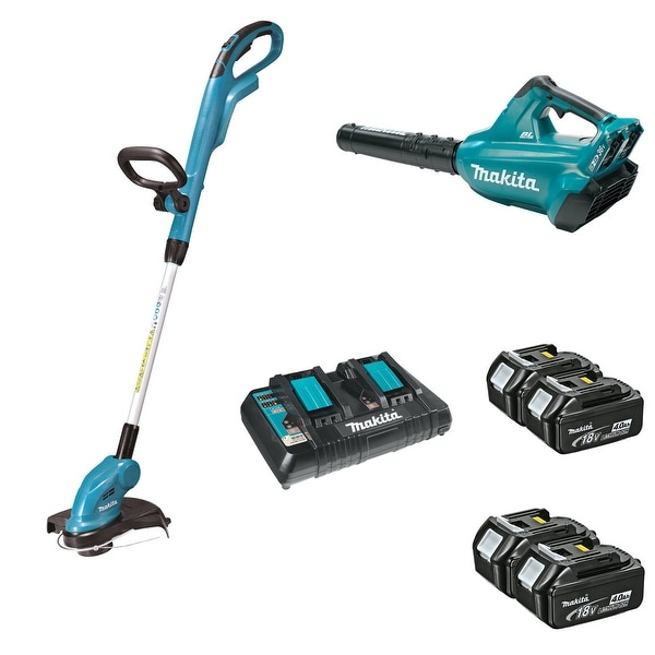 Makita 18v X2 Lxt Lithium Ion 36v Brushless Cordless String Trimmer Er Set